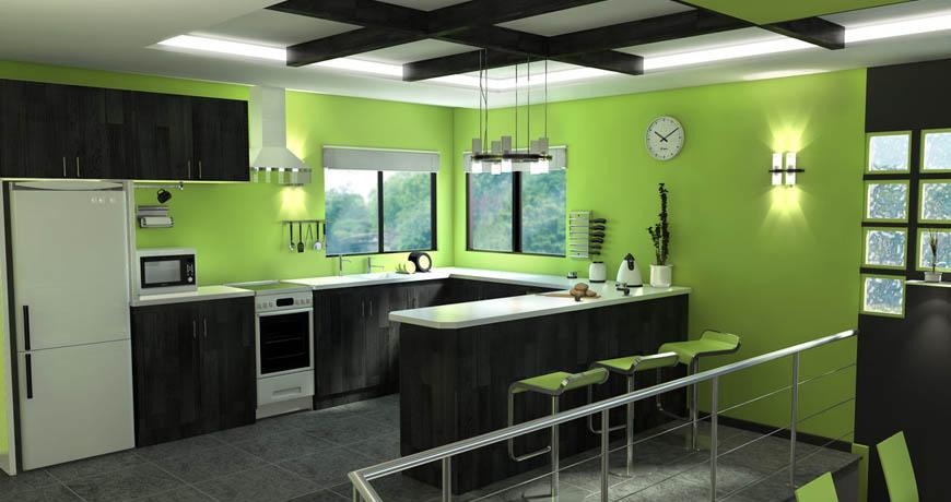 Artículo: Última moda, cocinas de colores