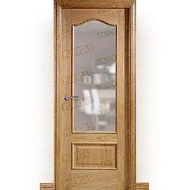 Puertas Clásicas de Madera:  Puerta Block de Alta Calidad Mod. Chichen Itza Roble ZV1