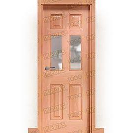 Puertas Clásicas de Madera:  Puerta Block de Alta Calidad Mod. Petra v2