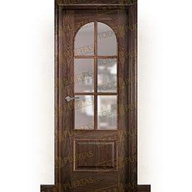 Puertas Clásicas de Madera:  Puerta Block de Alta Calidad Mod. Taj Mahal Nogal ZV6