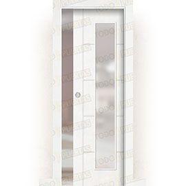 Puertas de Interior de Madera:  Puerta Corredera con Obra Mod. Budapest V1C