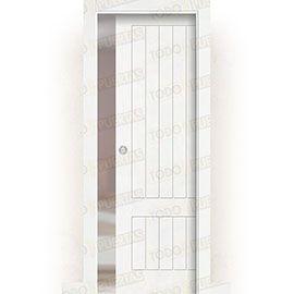 Puertas de Interior de Madera:  Puerta Corredera con Obra Mod. Casablanca