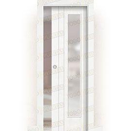 Puertas de Interior de Madera:  Puerta Corredera con Obra Mod. Castellón V1C