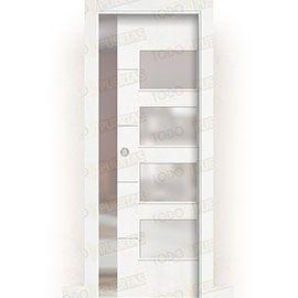 Puertas de Interior de Madera:  Puerta Corredera con Obra Mod. Dakar BV4