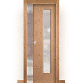 Puertas de Interior de Madera:  Puerta Corredera con Obra Mod. Islandia Haya V1C