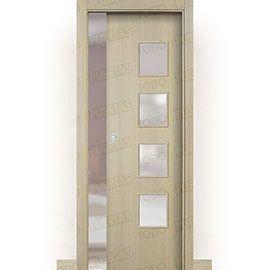 Puertas de Interior de Madera:  Puerta Corredera con Obra Mod. Islandia roble tierra bv4c