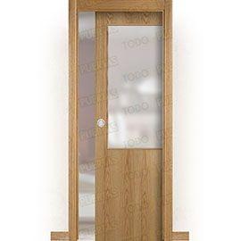 Puertas Baratas y Accesorios para puertas:  Puerta Corredera con Obra Mod. Islandia Roble ZV1