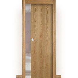 Puertas de Interior de Madera:  Puerta Corredera con Obra Mod. Islandia Roble