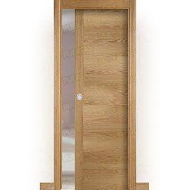 Puertas Baratas y Accesorios para puertas:  Puerta Corredera con Obra Mod. Oporto Roble