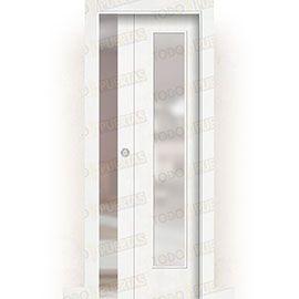 Puertas Correderas de Madera:  Puerta Corredera con Obra Mod. Pekín V1C