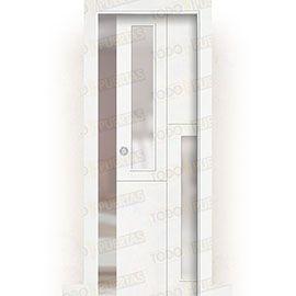 Puertas Correderas de Madera:  Puerta Corredera con Obra Mod. Ruanda V2