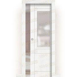 Puertas de Interior de Madera:  Puerta Corredera con Obra Mod. Songo ZV1
