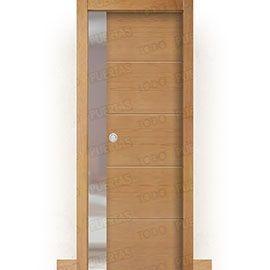 Puertas Baratas y Accesorios para puertas:  Puerta Corredera con Obra Mod. Zanzibar Haya