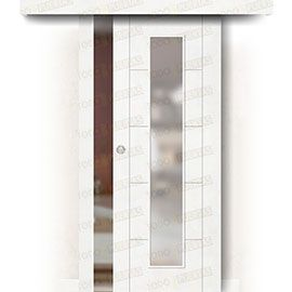 Puertas Correderas de Madera:  Puerta Corredera sin Obra Mod. Budapest V1C