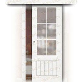 Puertas Correderas de Madera:  Puerta Corredera sin Obra Mod. Casablanca V6