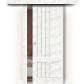 Puertas Correderas de Madera:  Puerta Corredera sin Obra Mod. Casablanca