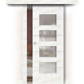 Puertas Correderas de Madera:  Puerta Corredera sin Obra Mod. Dakar BV4