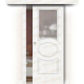 Puertas Correderas de Madera:  Puerta Corredera sin Obra Mod. Guinea ZV1