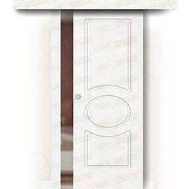 Puertas Correderas de Madera:  Puerta Corredera sin Obra Mod. Guinea