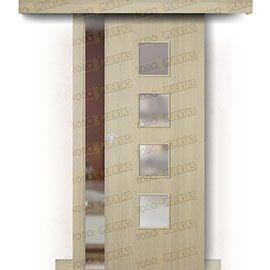 Puertas Baratas y Accesorios para puertas:  Puerta Corredera sin Obra Mod. Islandia roble tierra bv4c