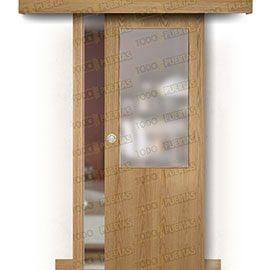 Puertas Baratas y Accesorios para puertas:  Puerta Corredera sin Obra Mod. Islandia Roble ZV1