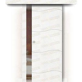 Puertas Correderas de Madera:  Puerta Corredera sin Obra Mod. Lyon
