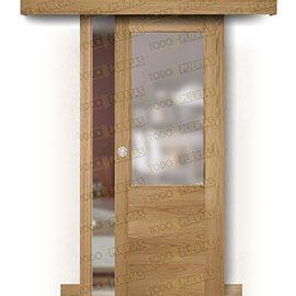 Puertas Baratas y Accesorios para puertas:  Puerta Corredera sin Obra Mod. Oporto Roble ZV1