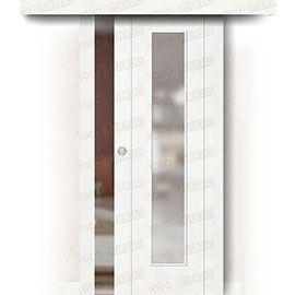 Puertas Correderas de Madera:  Puerta Corredera sin Obra Mod. Pekín V1C