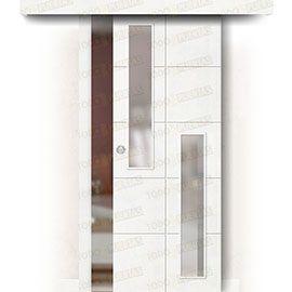 Puertas Correderas de Madera:  Puerta Corredera sin Obra Mod. Seúl V2