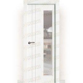 Puertas Baratas y Accesorios para puertas:  Puerta Block Maciza Lacada Blanca Mod. Álava V1L