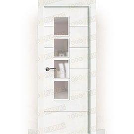 Puertas Baratas y Accesorios para puertas:  Puerta Block Maciza Lacada Blanca Mod. Albacete BV4L
