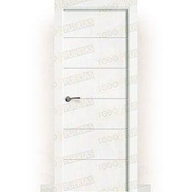 Puertas Lacadas Blancas:  Puerta Block Maciza Lacada Blanca Mod. Albacete