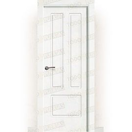 Puertas Lacadas Blancas:  Puerta Block Maciza Lacada Blanca Mod. Bagan