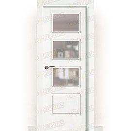 Puertas Lacadas Blancas:  Puerta Block Maciza Lacada Blanca Mod. bangkok V3