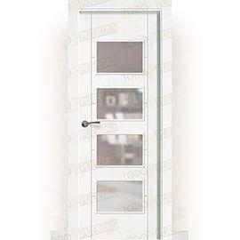 Puertas Baratas y Accesorios para puertas:  Puerta Block Maciza Lacada Blanca Mod. Budapest bv4
