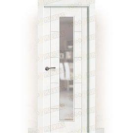 Puertas Baratas y Accesorios para puertas:  Puerta Block Maciza Lacada Blanca Mod. Budapest v1c