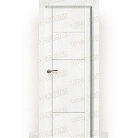 Puertas Lacadas Blancas:  Puerta Block Maciza Lacada Blanca Mod. Budapest