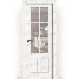 Puertas Baratas y Accesorios para puertas:  Puerta Block Maciza Lacada Blanca Mod. Casablanca v6