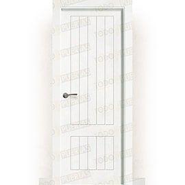 Puertas Baratas y Accesorios para puertas:  Puerta Block Maciza Lacada Blanca Mod. Casablanca