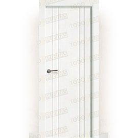 Puertas Baratas y Accesorios para puertas:  Puerta Block Maciza Lacada Blanca Mod. Castellón