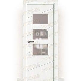 Puertas Baratas y Accesorios para puertas:  Puerta Block Maciza Lacada Blanca Mod. Cuzco bzv3