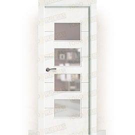 Puertas Baratas y Accesorios para puertas:  Puerta Block Maciza Lacada Blanca Mod. Dakar BV4