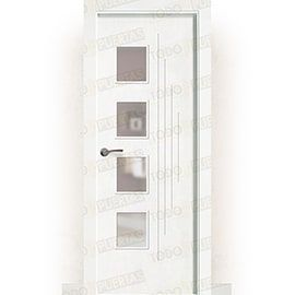 Puertas Baratas y Accesorios para puertas:  Puerta Block Maciza Lacada Blanca Mod. Dala BV4L