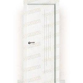 Puertas Baratas y Accesorios para puertas:  Puerta Block Maciza Lacada Blanca Mod. Dala