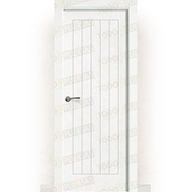 Puertas Baratas y Accesorios para puertas:  Puerta Block Maciza Lacada Blanca Mod. Edimburgo