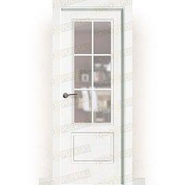 Puertas Baratas y Accesorios para puertas:  Puerta Block Maciza Lacada Blanca Mod. Gabón V6