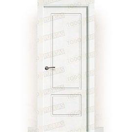 Puertas Lacadas Blancas:  Puerta Block Maciza Lacada Blanca Mod. Gabón