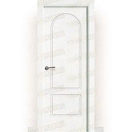 Puertas Lacadas Blancas:  Puerta Block Maciza Lacada Blanca Mod. Gambia