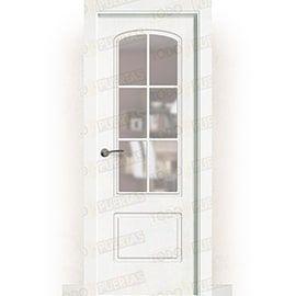 Puertas Baratas y Accesorios para puertas:  Puerta Block Maciza Lacada Blanca Mod. Ghana V6