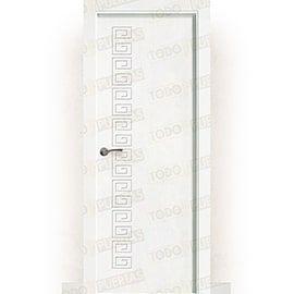 Puertas Baratas y Accesorios para puertas:  Puerta Block Maciza Lacada Blanca Mod. Grecia
